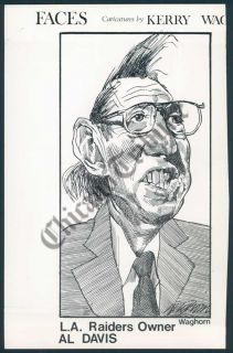 CT PHOTO ako 144 Caricature Kerry Waghorn Al Davis LA Raiders Owner