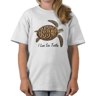 Love Sea Turtles Kids T Shirt