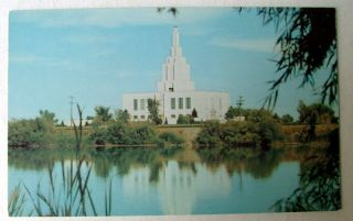 Idaho Falls Idaho Postcard LDS Mormon Temple by River T