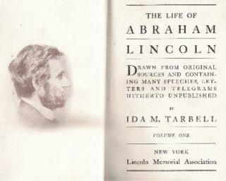 Abraham Lincoln Biography Ida M Tarbell 2 Volume Set Civil War