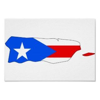Mapa de la bandera de Puero Rico Poser de