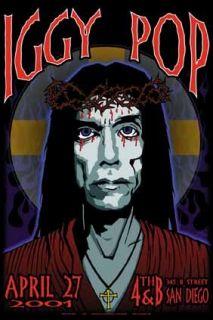 Mint Iggy Pop San Diego Show Poster Art of Modern Rock