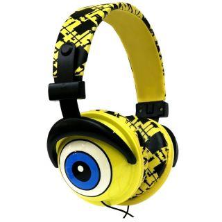 iHip SBF10276 Nickelodeon SpongeBob DJ Syle Headphones Yellow Black