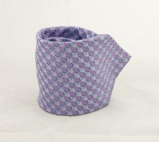 Ike Behar Lt Purple Geometric Silk Neck Tie NT233SB