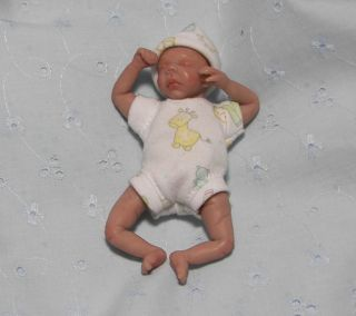 OOAK Polymer Clay Baby Boy William 4 by Ileanaj
