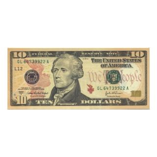 Ten Dollar Bill Federal Reserve Note Series 2004A Personalized