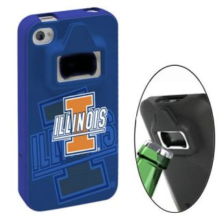 Bottle Opener Case Illinois Fighting Illini NCAA iPhone 4 4S Snap On
