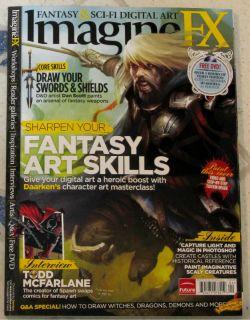 IMAGINE FX Sci Fi + DVD April 2012 FANTASY ART SKILLS Swords TODD