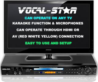 PARTY VOCAL STAR HDMI CDG DVD KARAOKE MACHINE PLAYER   350 SONGS & 2