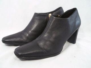 LIZ CLAIBORNE IMELDA Leather Split Stitch Side Zip Ankle Boots Womens