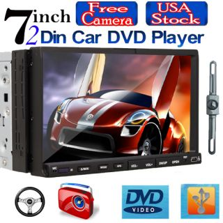 Dash with Camera Touch Screen DVD Car Player Stereo RDS Radio