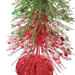 EUR € 11.58   35cm 14 Dual Color Sequin Pine Christmas Tree Desk Top