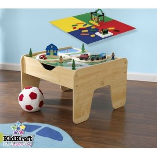 KidKraft 2 in 1 Lego and Train Activity Table 17576