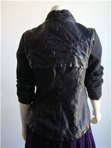 1285 New Improvd Liz Lamb Leather Moto Jacket Size S
