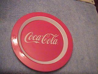 Coca Cola Coke Plastic Red and White Plate Melamine Melmac 10