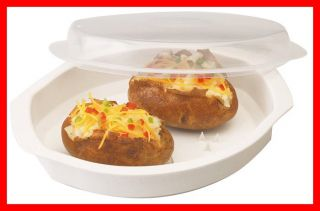Microwave Potato Cooker w Prongs Even Cooking Up to 4 Medium Potatoes