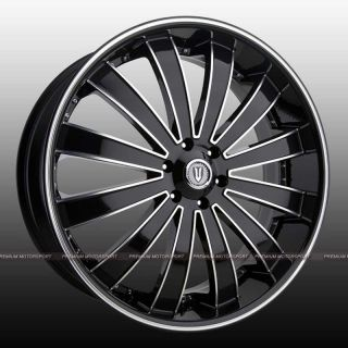 24 inch Rims Versante VE225 Wheels Magnum Chrysler 300C Dodge Charger
