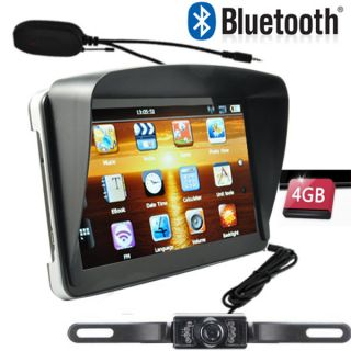 inch Car GPS Navigation Bluetooth AV in SAT Nav Rear View Camera 4GB
