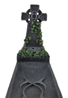 Resting Place` Celtic Cross Tombstone Stick Incense Burner