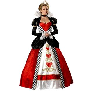 Queen of Hearts Adult Halloween Costume Royalty Party Alice in