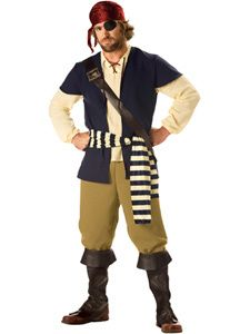 Rogue Pirate Incharacter Deluxe Costume Large Mens L