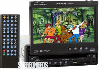 IN DASH CAR 7 TOUCHSCREEN MONITOR DVD CD iPOD PLAYER TOUCH SCREEN