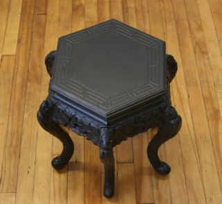Antique Victorian Stool Footstool Plant Stand Table Piano Stool