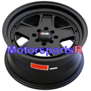 15 15x8 XXR 532 Flat Black Wheels Rims Deep Dish Lip 4x4 5 Old School