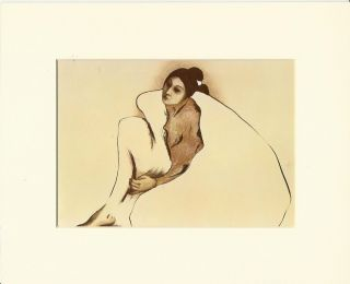Woman from Indian Wells Native American Indian Matted Print