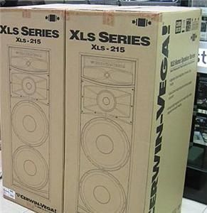 CERWIN VEGA XLS 215 DUAL 15 3 WAY TOWER SPEAKER,each, NEW THE ONE AND