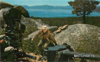 Incline Village Nevada Ponderosa Ranch Bonanza TV Show Postcard