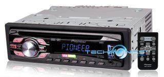 PIONEER IN DASH STEREO AM FM TUNER MP3 CD IPOD RECEIVER W REMOTE USB