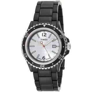 Indiglo Mens Black IP Analog Dress Stainless Steel Bracelet Watch