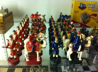 Chess Set Pieces Indian India Elephants Camels RARE