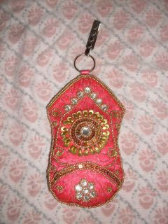 Indian Beaded Mobile Cell Phone Saree Salwar Party Bag Purse Belt Clip