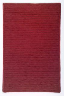 Indoor Outdoor Premium Braided Rug Solid Easy Clean Carpet Red in 18
