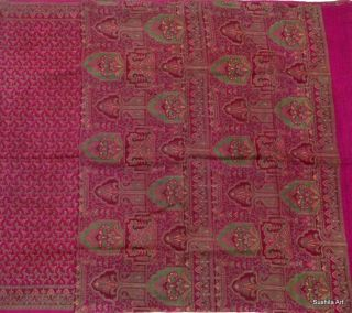 Hard to Find Design 100% Pure Silk Indian Antique Vintage Sari 5 YD