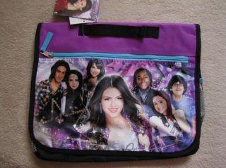 Victorious Friends Purple Soft Messenger Book Bag Tote Case