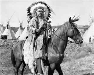 Old Photo Pacific NW Umatilla Native American Indian Chief on Horse
