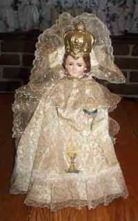 Vintage Infant of Prague Chalkware Statue Columbia Statuary 1966 Made