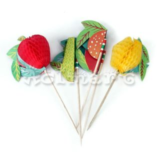Drink Decoration Ice Cream Cupcake Picks Sticks Cocktail Party