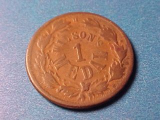 Civil War Token 1863 Liberty Cap Wilsons Medal