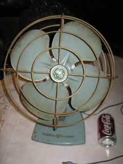 Century General Electric Antique Table Window Industrial Fan