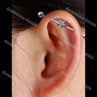 Mix Style Long Industrial Barbell Stud Ear Ring Piercing Hot