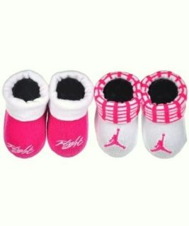 Jordan Jumpman Booties Socks Crib Shoes 0 6M Pink Baby Girl Gift Set