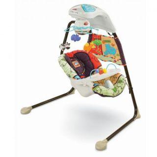 Luv U Zoo Cradle Baby Swing V1179 Infant Gently Used Safari Jungle