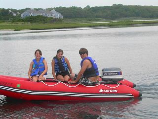 NEW 13 SATURN INFLATABLE BOAT DINGHY RAFT TENDER SD385. PLYWOOD FLOOR
