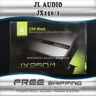NEW JL AUDIO JX250 1 250W RMS MONO BLOCK CLASS AB FULL RANGE CAR
