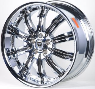 GWG Narsis 20 Chrome Wheels Rims Infiniti G35 G37 I30 I35 J35 JX35 M