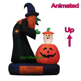 Party Halloween Inflatable Witch Ghost Pumpkin Yard Decoration Prop